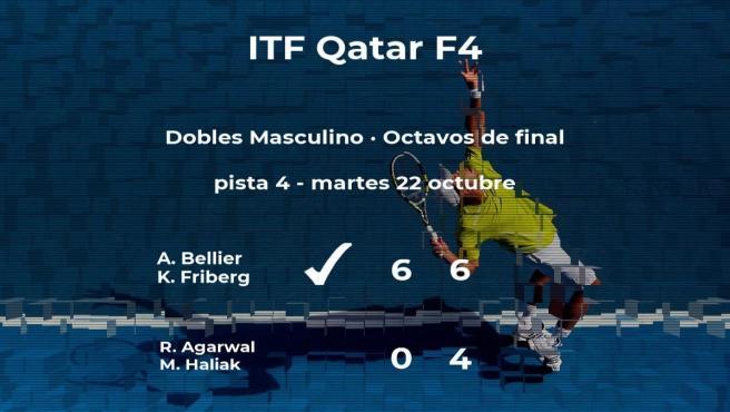 Bellier y Friberg consiguen su plaza en los cuartos de final del torneo de Doha