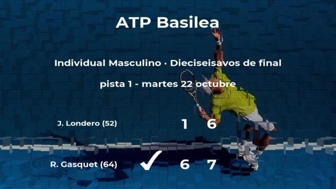 El tenista Richard Gasquet logra clasificarse para los octavos de final a costa del tenista Juan Ignacio Londero
