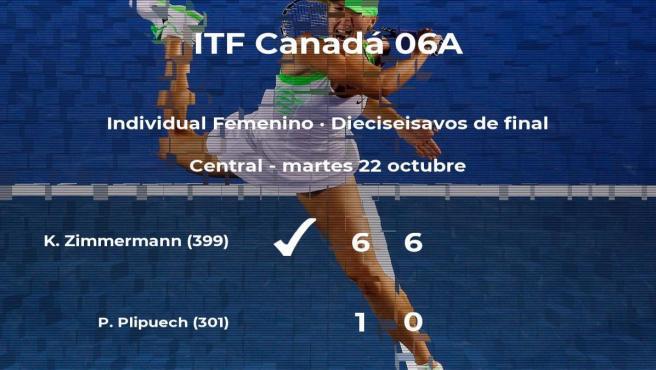 Kimberley Zimmermann pasa a la siguiente ronda del torneo de Saguenay tras vencer en los dieciseisavos de final
