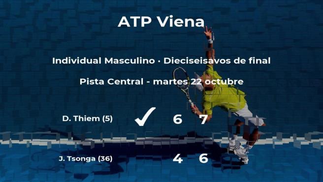 Dominic Thiem pasa a la próxima fase del torneo ATP 500 de Viena tras vencer en los dieciseisavos de final