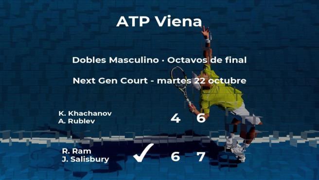Los tenistas Ram y Salisbury vencen en los octavos de final del torneo ATP 500 de Viena