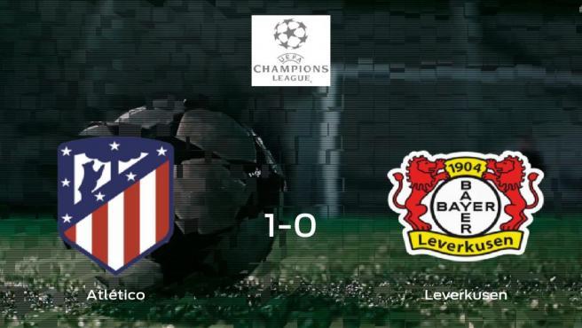 El Atlético de Madrid vence 1-0 en su estadio frente al Bayer Leverkusen