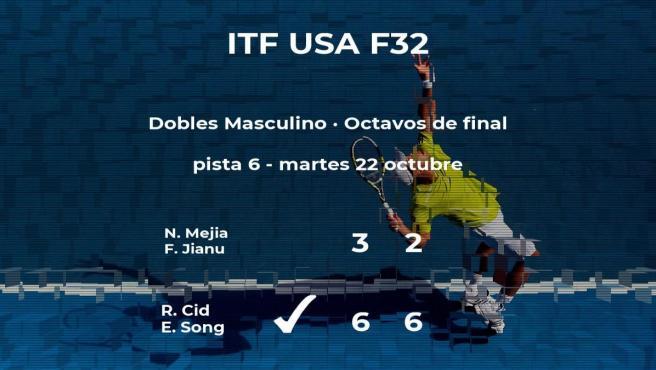 Los tenistas Cid y Song consiguen la plaza de los cuartos de final a costa de Mejia y Jianu