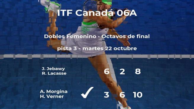 Las tenistas Jebawy y Lacasse se despiden del torneo de Saguenay