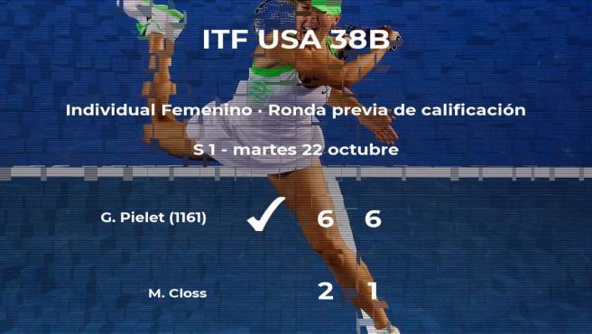 Gianna Pielet vence a Mary Closs en la ronda previa de calificación