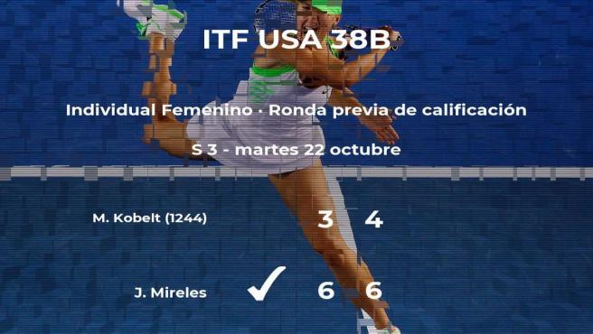 Jeanette Mireles pasa a la siguiente fase del torneo ITF USA 38B