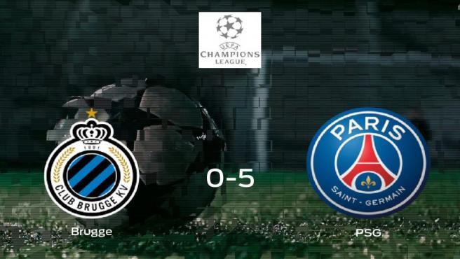 El PSG consigue una goleada en el estadio del Club Brugge (0-5)