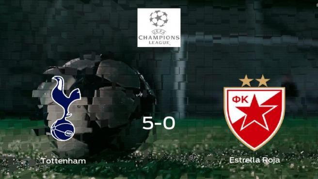 El Tottenham Hotspur se hace con los tres puntos tras golear al Estrella Roja de Belgrado en casa (5-0)