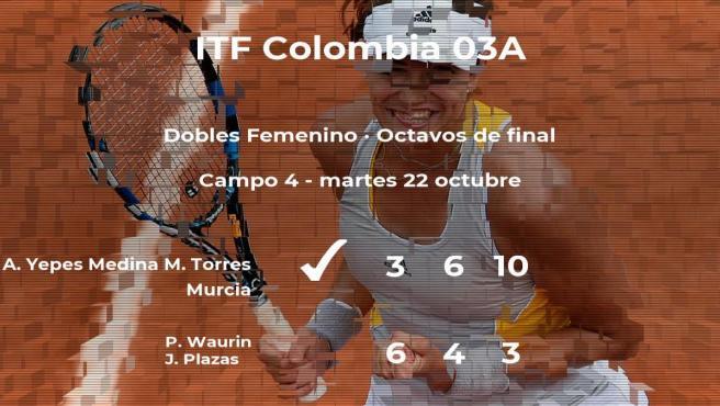 Yepes Medina y Torres Murcia rompen los pronósticos al vencer a Waurin y Plazas en los octavos de final del torneo de Cúcuta