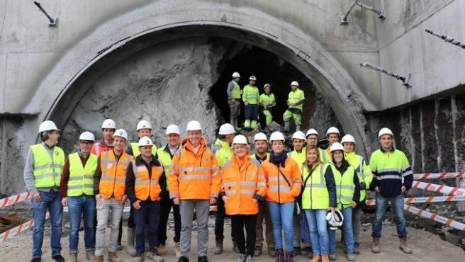 Cale de túnel en la carretera Deba-Mutriku