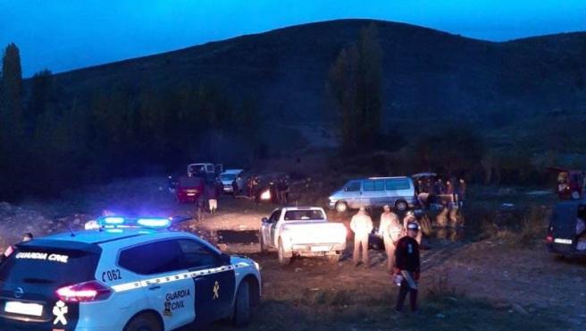 Campamento desalojado por la Guardia Civil.