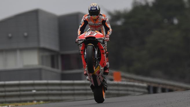 El piloto español de MotoGP Marc Márquez (Repsol Honda) en el GP Japón 2019