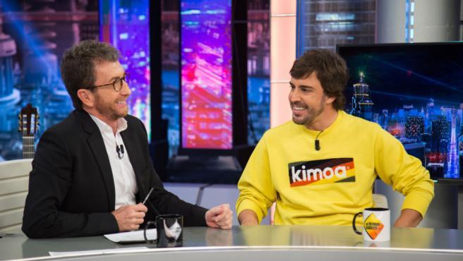 Fernando Alonso en su visita la 'El Hormiguero 3.0'