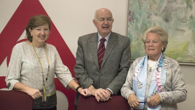 Fernando Galdámez, Pilar Ríos y Pilar Enériz presentan el Rastrillo Aragón 2019.