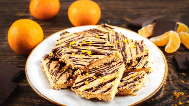 Galletas de mandarina y chocolate en Thermomix