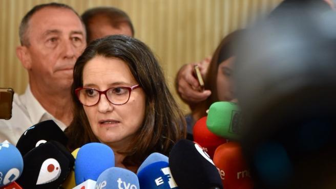 La vicepresidenta de la Generalitat y coportavoz de Compromís, Mónica Oltra.