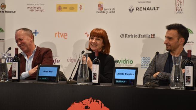 Luis San Narciso, Najwa Nimri y Alejandro Amenábar.