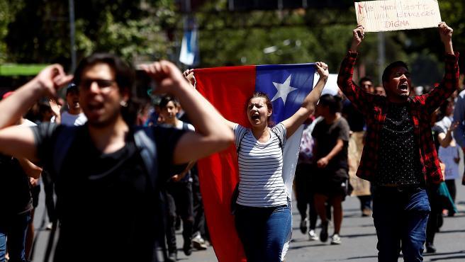 Nueva jornada de protestas en las calles de Chile.