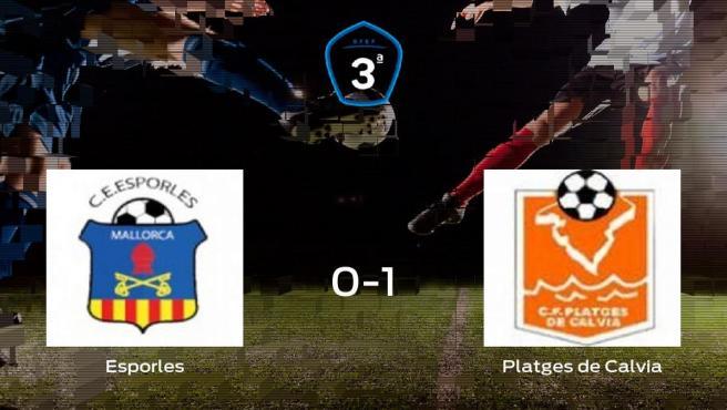 El Platges de Calvia gana 0-1 en el estadio del Esporles