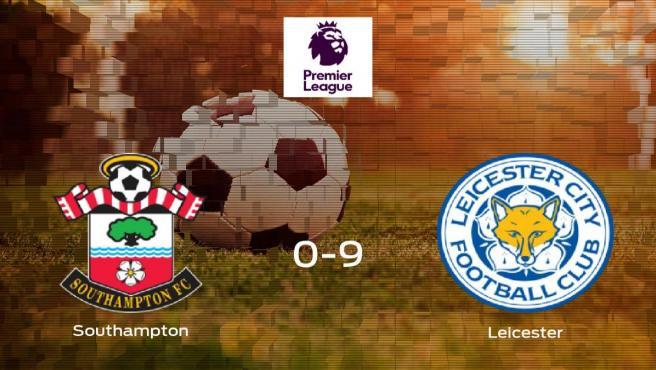 El Leicester golea 0-9 en el domicilio del Southampton