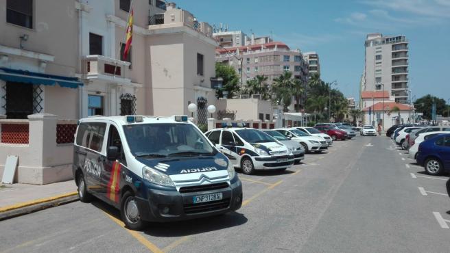 Cotxes de la Policia Nacional a Dénia (Alacant)