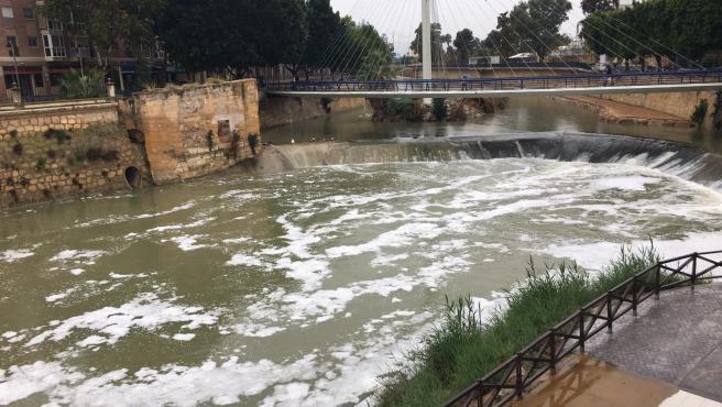 Espuma en el río Segura