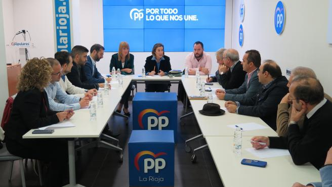 Imagen de la reunión del PP con el sector sociosanitario de La Rioja