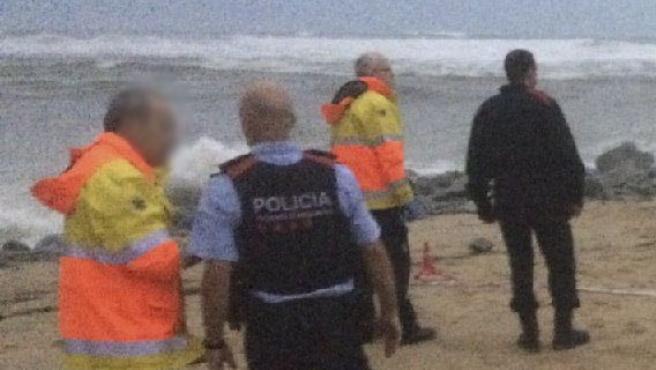 Los Mossos identifican un cuerpo sin vida hallado en Caldes d'Estrac.