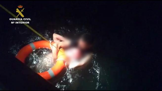 Rescate en el puerto de Barcelona