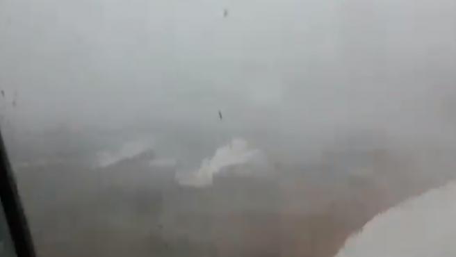 Los destrozos del tornado de Ibiza.