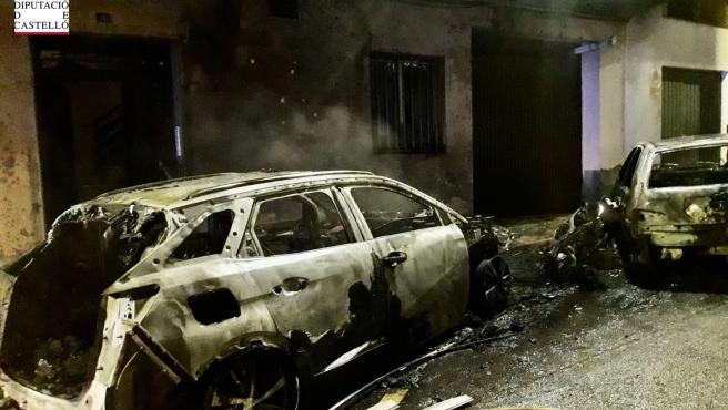 Vehicles afectats per l'incendi