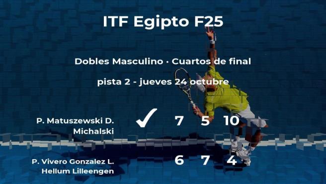 Los tenistas Vivero Gonzalez y Hellum Lilleengen se despiden del torneo de Sharm El Sheikh