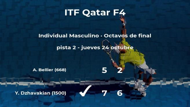 Yurii Dzhavakian rompe los pronósticos al vencer a Antoine Bellier en los octavos de final del torneo de Doha