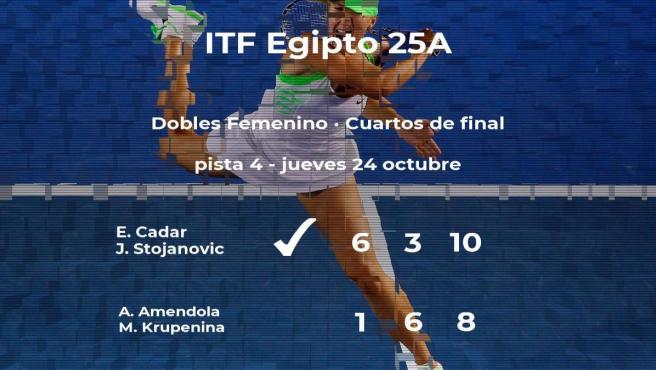 Cadar y Stojanovic consiguen su plaza en las semifinales del torneo de Sharm El Sheikh