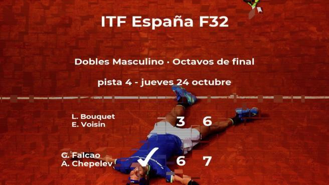 Falcao y Chepelev consiguen la plaza de los cuartos de final a costa de Bouquet y Voisin