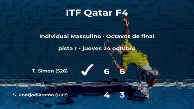 El tenista Tobias Simon gana en los octavos de final del torneo de Doha