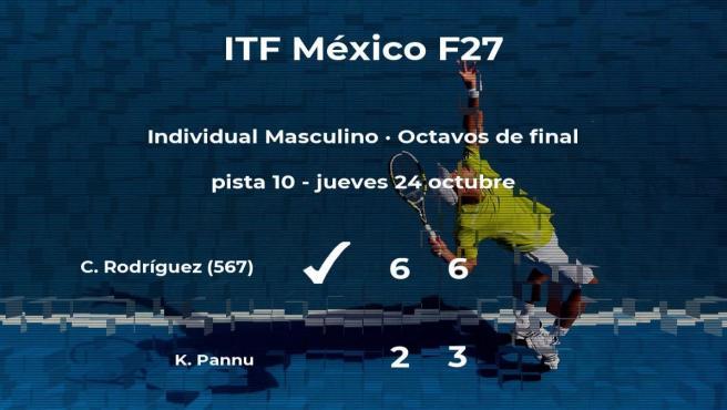 Cristian Rodríguez consigue clasificarse para los cuartos de final del torneo de Cancún