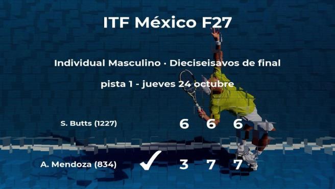 El tenista Alejandro Mendoza pasa a los octavos de final del torneo de Cancún