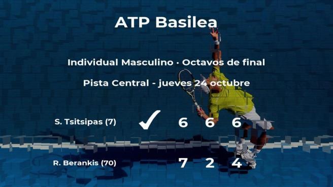 El tenista Stefanos Tsitsipas, clasificado para los cuartos de final del torneo ATP 500 de Basilea