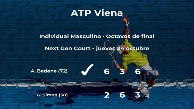 El tenista Aljaz Bedene, clasificado para los cuartos de final del torneo ATP 500 de Viena