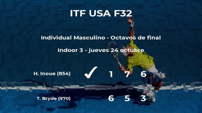 El tenista Haru Inoue le quita el puesto de los cuartos de final a Trent Bryde