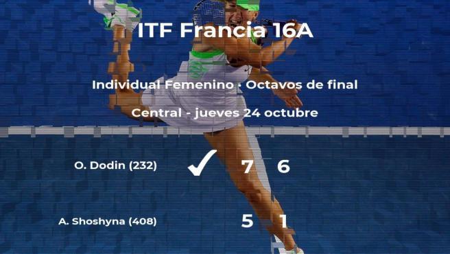Oceane Dodin estará en los cuartos de final del torneo de Poitiers