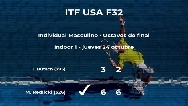 El tenista Michael Redlicki pasa a los cuartos de final del torneo de Fayetteville