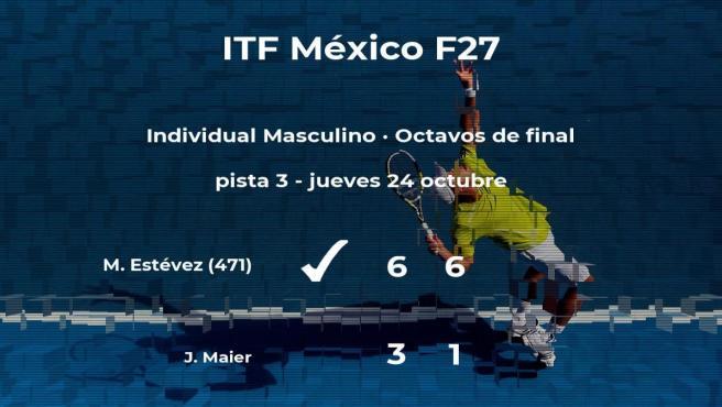 El tenista Maximiliano Estévez pasa a los cuartos de final del torneo de Cancún