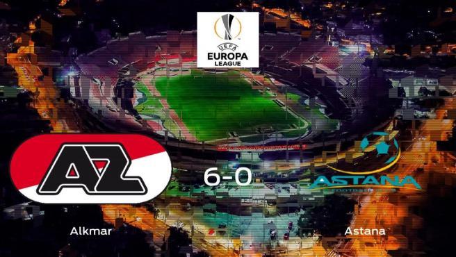 El AZ Alkmar se queda con los tres puntos frente al Astana (6-0)