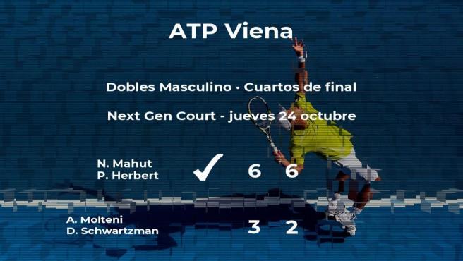 Los tenistas Mahut y Herbert logran clasificarse para las semifinales a costa de Molteni y Schwartzman