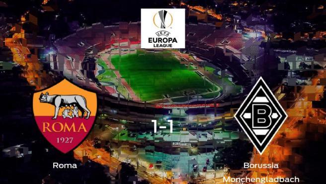 La Roma y el Borussia Monchengladbach se reparten los puntos tras empatar a uno