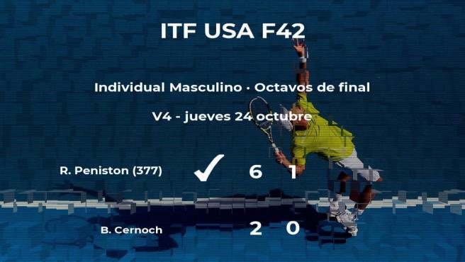 Ryan Peniston vence en los octavos de final del torneo ITF USA F42