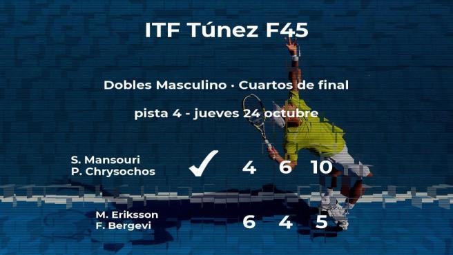 Los tenistas Mansouri y Chrysochos se imponen en los cuartos de final del torneo de Monastir