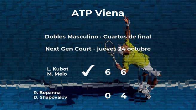 Los tenistas Kubot y Melo se clasifican para las semifinales del torneo ATP 500 de Viena